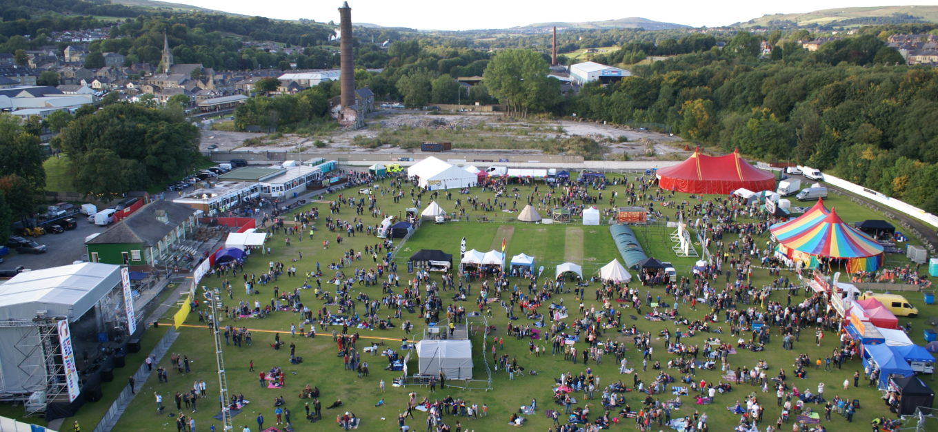 The festival from the air